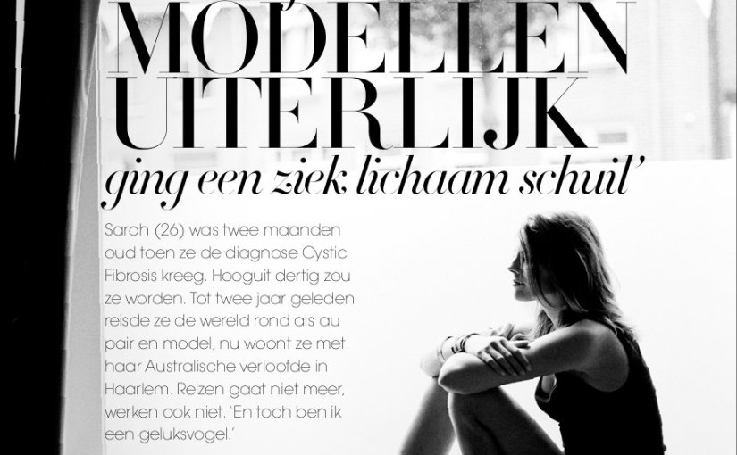 'Achter mijn modellen  uiterlijk ging een ziek lichaamschuil'